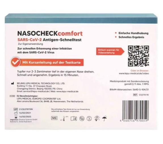 Nasocheck Comfort Antigen-Schnelltest