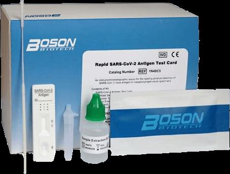 Boston Antigen Test Card